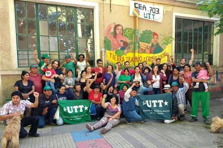 """""""Tierra, trabajo y cambio social"""" es la premisa que defienden los pequeños productores de la UTT."""