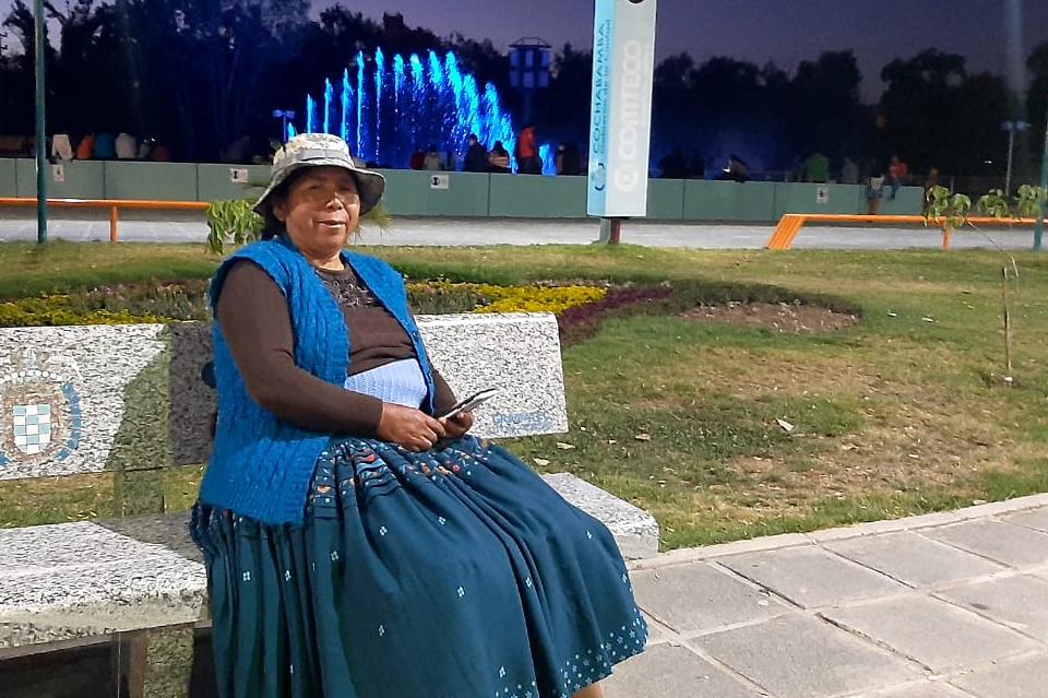 Aditha, mujer campesina y productora agroecológica en Bolivia.