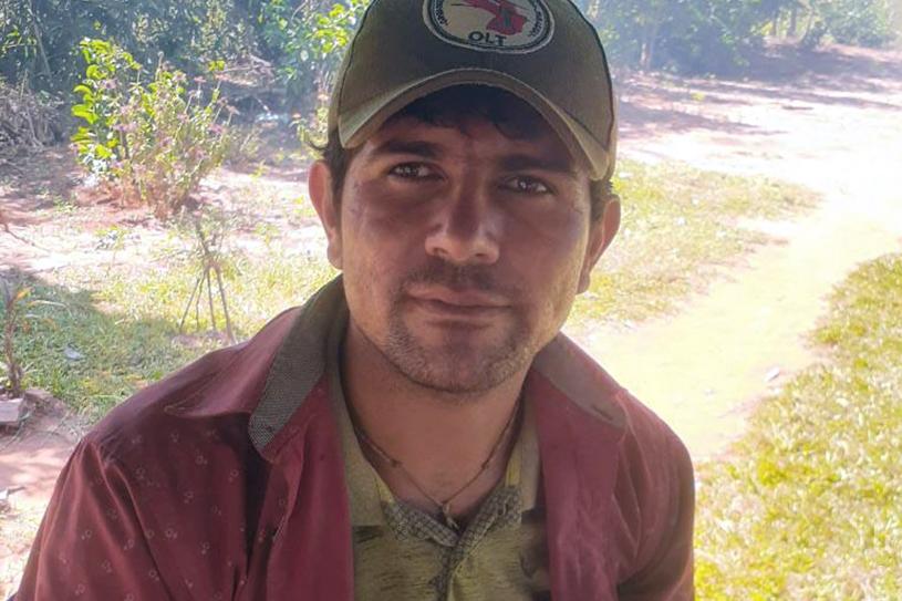 Pascual Figueredo, agricultor paraguayo, residente del Asentamiento 3 de julio e integrante de la Organización Lucha por la Tierra (OLT).