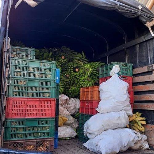 Desde los territorios y resguardos se envían alimentos para quienes participan en protestas. Son frutas y verduras por ellos cultivadas