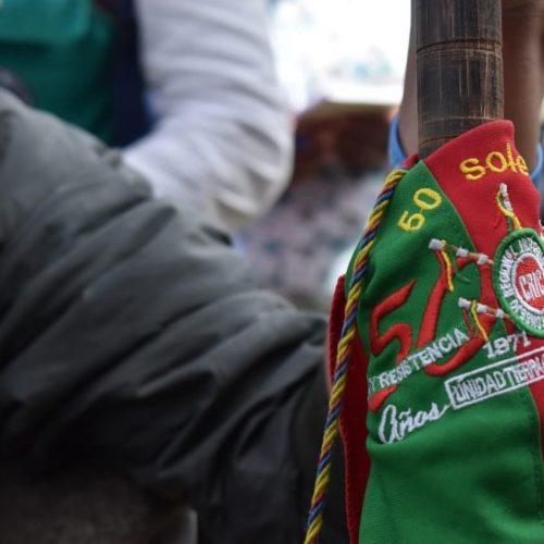 El bastón de mando, símbolo que portan solo las autpridades del Consejo Regional Indígena del Cauca (Cric)
