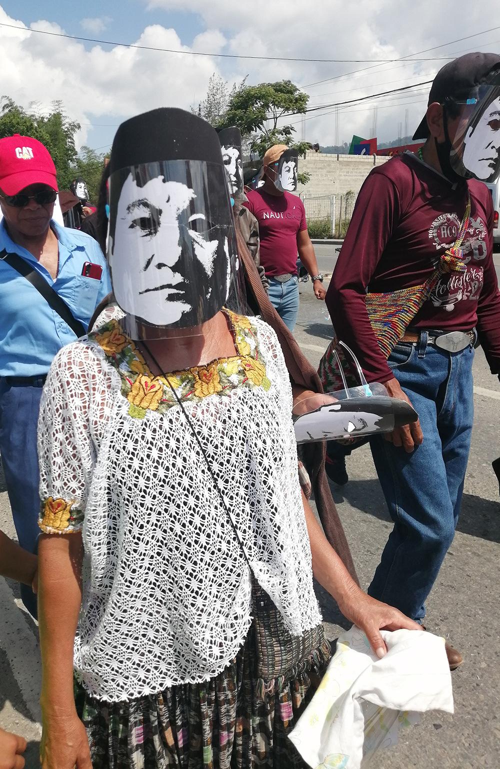 Campesinos protestan contra hidrelectricas y por la libertad de Bernardo. Foto: Edith López Ovalle