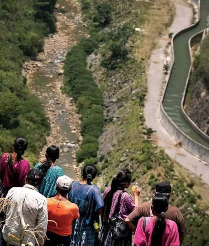 El Río Cahabón entubado