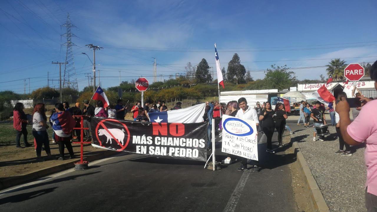 Protesta en San Pedro.