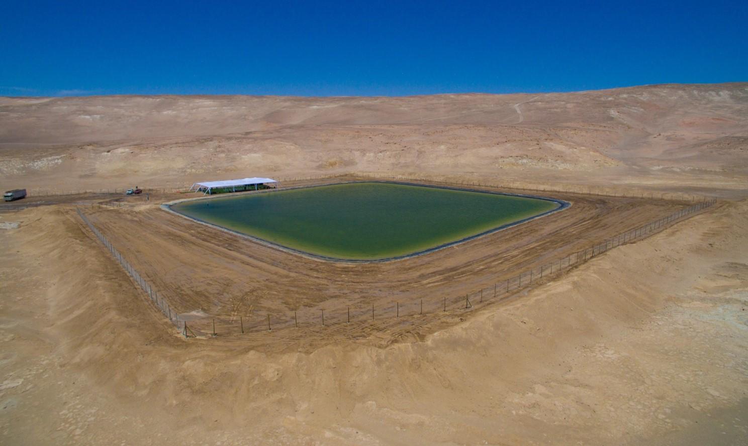 El tranque. Foto: FIA/Ministerio de Agricultura