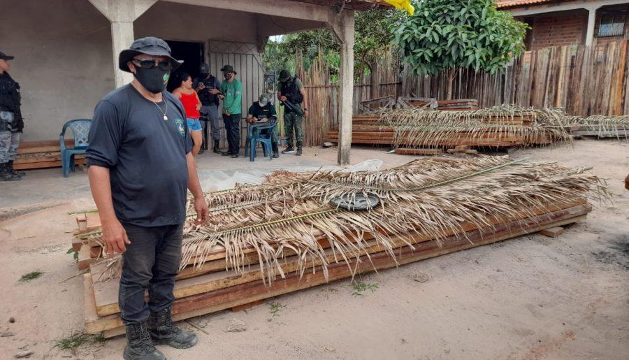 La tala de madera en la zona de los Awa Guajá, otra de las amenazas al territorio amazónico. Comunidad Awa Guajá